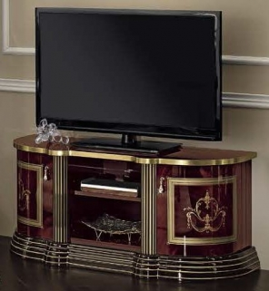 Camel Luxor Mahogany Italian TV Cabinet - Mini