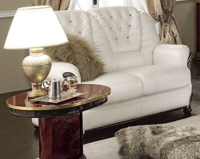 Camel Luxor Mahogany Italian Leather Sofa - 2 Seater