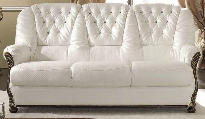 Camel Luxor Mahogany Italian Leather Sofa - 3 Seater