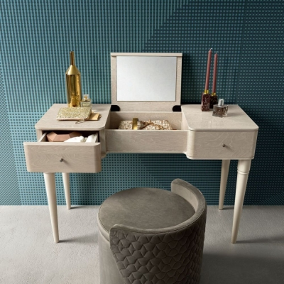 Camel Maia Night Sand Birch Italian Dressing Table