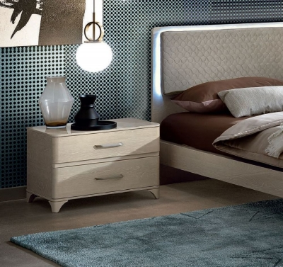 Camel Maia Night Sand Birch Italian VIP Version Maxi Bedside Cabinet