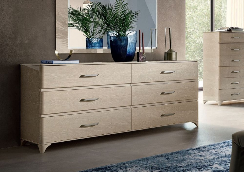 Camel Maia Night Sand Birch Italian VIP Version Large Dresser