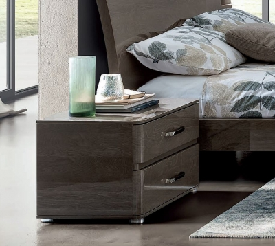 Camel Maia Night Silver Birch Italian Flat Version Maxi Bedside Cabinet
