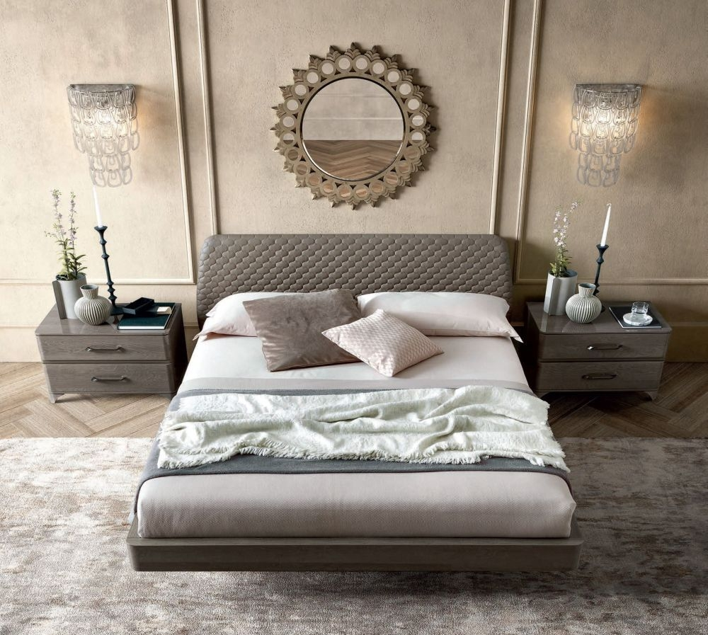 Camel Maia Night Silver Birch Italian Smart Bed with Teknic Storage