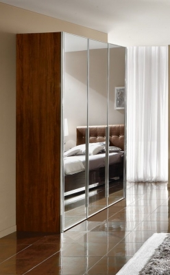 Camel Matrix Italian Mirror Wardrobe