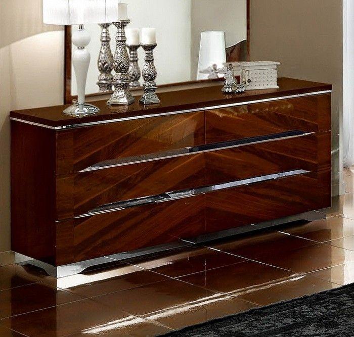 Camel Matrix Italian Double Dresser - 6 Drawer