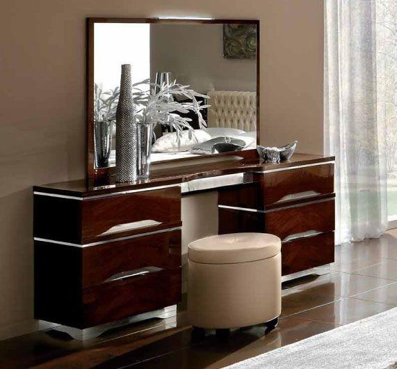 Camel Matrix Italian Dresser with Pouff