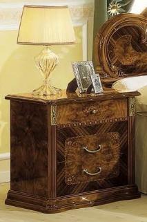 Camel Milady Walnut Italian Bedside Cabinet