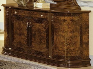 Camel Milady Walnut Italian Buffet - 4 Door