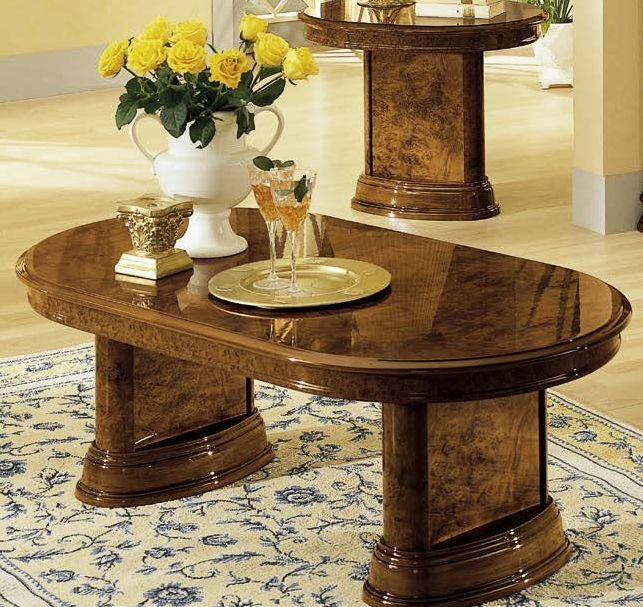 Camel Milady Walnut Italian Coffee Table