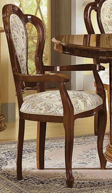 Camel Milady Walnut Italian Dining Armchair (Pair)