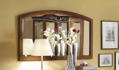 Camel Nostalgia Day Walnut Italian Rectangular Mirror - 140cm x 80cm