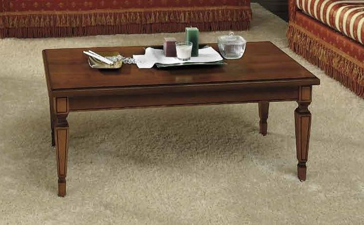 Camel Nostalgia Day Walnut Italian Rectangular Coffee Table
