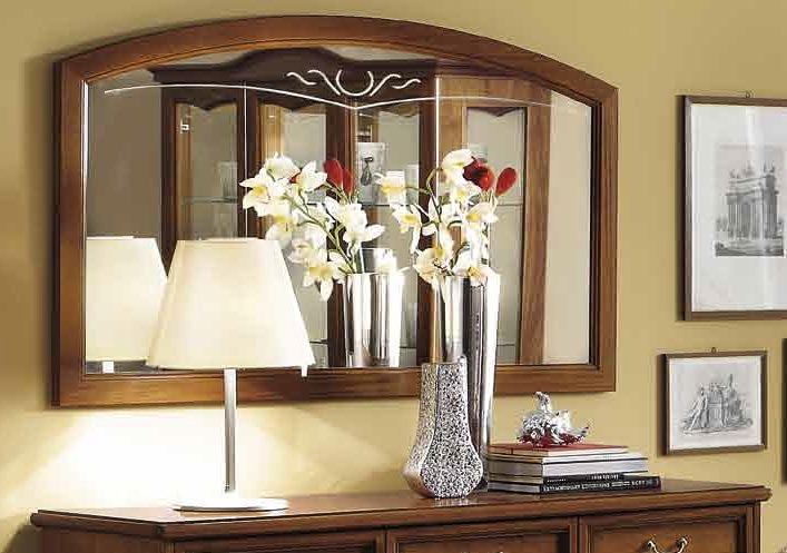 Camel Nostalgia Day Walnut Italian Rectangular Mirror - 140cm x 3cm