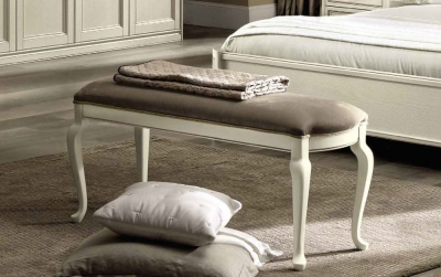 Camel Nostalgia Bianco Antico Italian Eco Leather Nabuk Bench