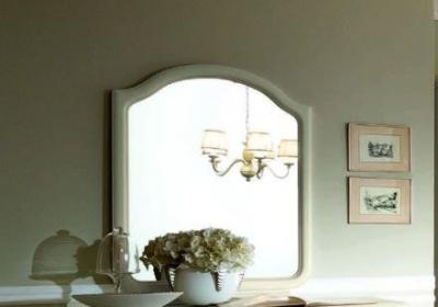 Camel Nostalgia Bianco Antico Italian Large Mirror - 110cm x 101cm