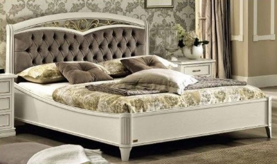 Camel Nostalgia Ricordi Night Curvo Fregio Capitonne Ring Bed with Storage