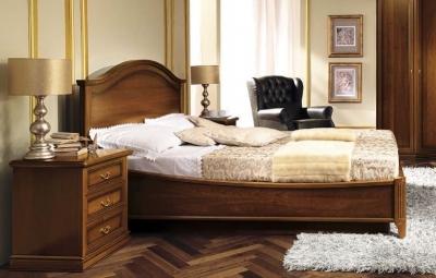 Camel Nostalgia Night Walnut Italian Gendarme Ring Bed