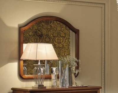 Camel Nostalgia Night Walnut Italian Large Vanity Mirror - 110cm x 101cm