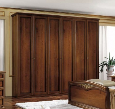 Camel Nostalgia Night Walnut Italian 6 Door Wardrobe