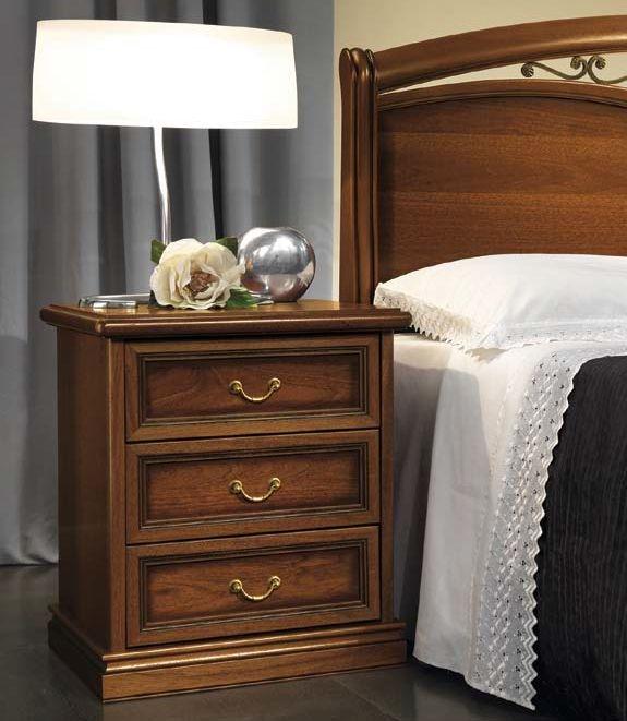 Camel Nostalgia Night Walnut Italian Bedside Cabinet