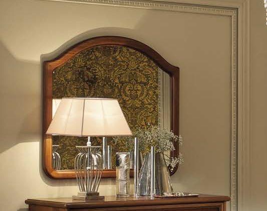 Camel Nostalgia Night Walnut Italian Large Vanity Mirror - 110cm x 101cm