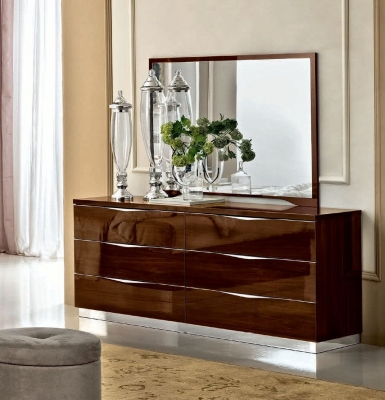 Camel Onda Night Walnut Italian Medium Dresser