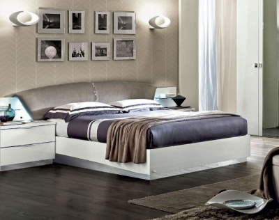 Camel Onda Night White Italian Drop Bed with Luna Storage