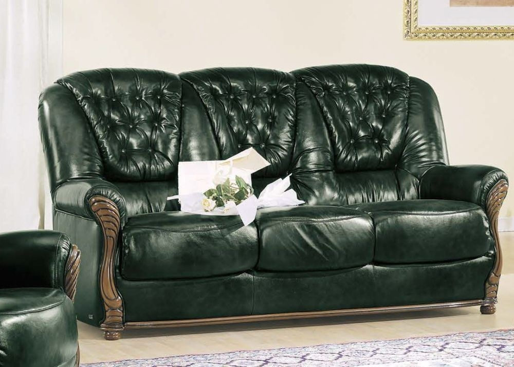 Camel Pisa Italian Leather 3 Seater Sofa Bed
