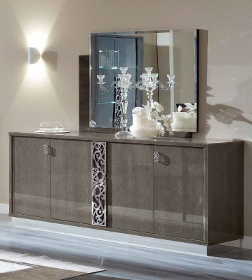 Camel Platinum Day Silver Birch Glamour Italian Large Buffet Sideboard