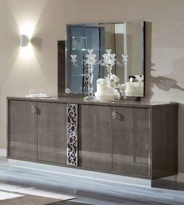 Camel Platinum Day Silver Birch Glamour Italian Large Buffet Sideboard