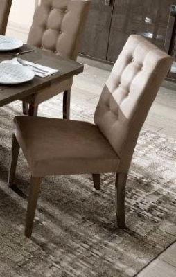 Camel Platinum Day Dama Silver Birch Eco Nabuk Vermont Italian Dining Chair