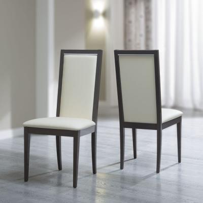 Camel Platinum Italian Ecopelle Avario Liscia Dining Chair (Pair)