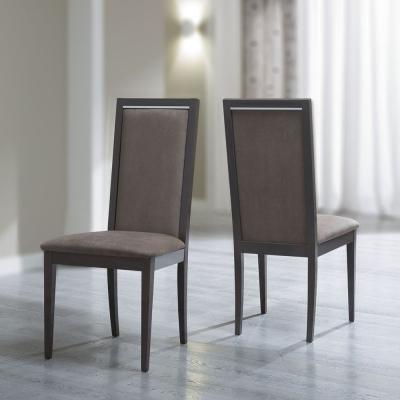Camel Platinum Italian Ecopelle Nabuk Liscia Dining Chair (Pair)