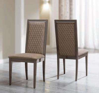 Camel Platinum Italian Ecopelle Nabuk Rombi Dining Chair (Pair)