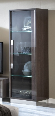 Camel Platinum Slim Italian Glass Cabinet - 1 Door