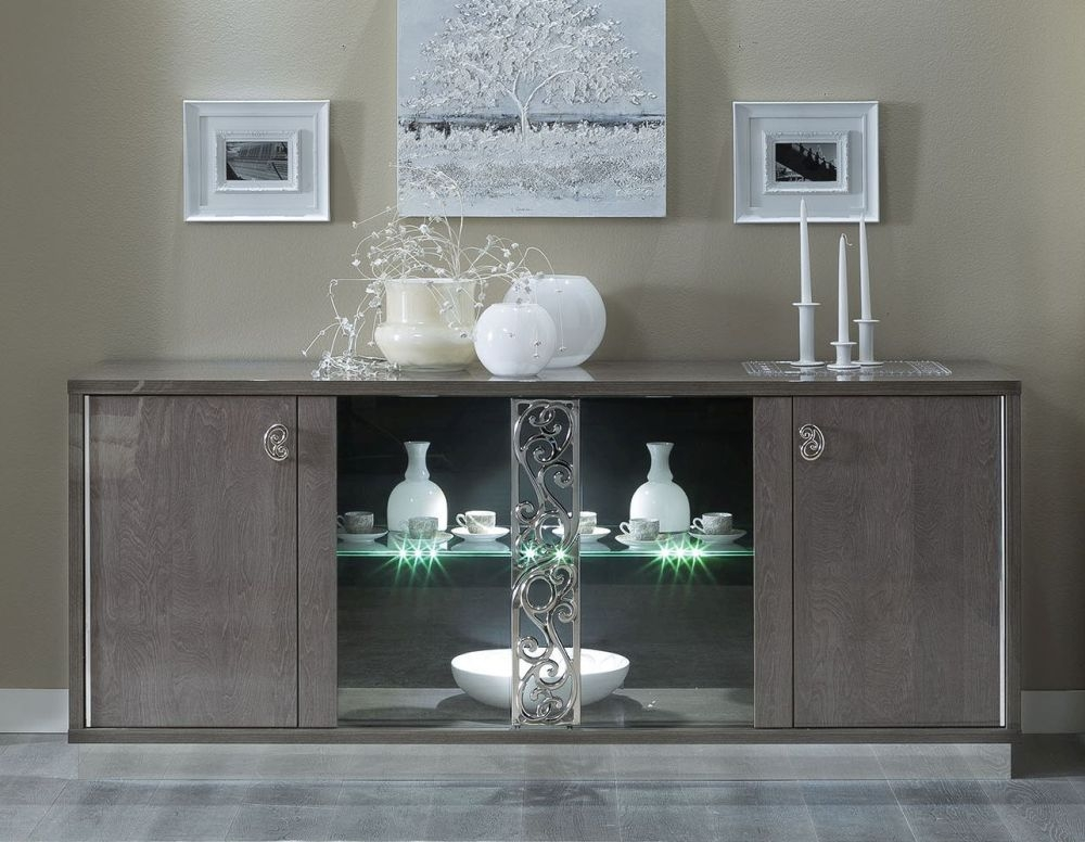 Camel Platinum Glamour Italian Buffet Vitrine with Glass Door