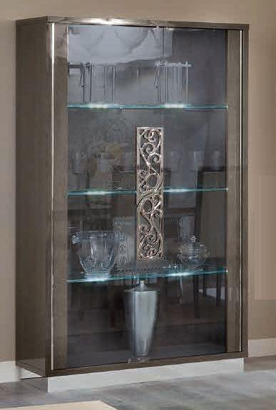 Camel Platinum Glamuor Italian Glass Cabinet - 2 Door