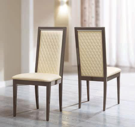 Camel Platinum Italian Ecopelle Avorio Rombi Dining Chair (Pair)