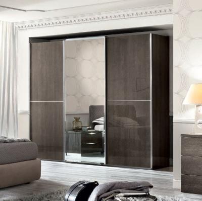 Camel Platinum Night Italian Mirror Sliding Wardrobe