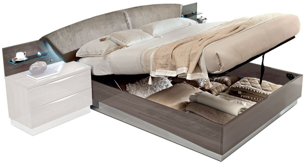 Camel Platinum Night Italian Drop Bed with Luna Storage