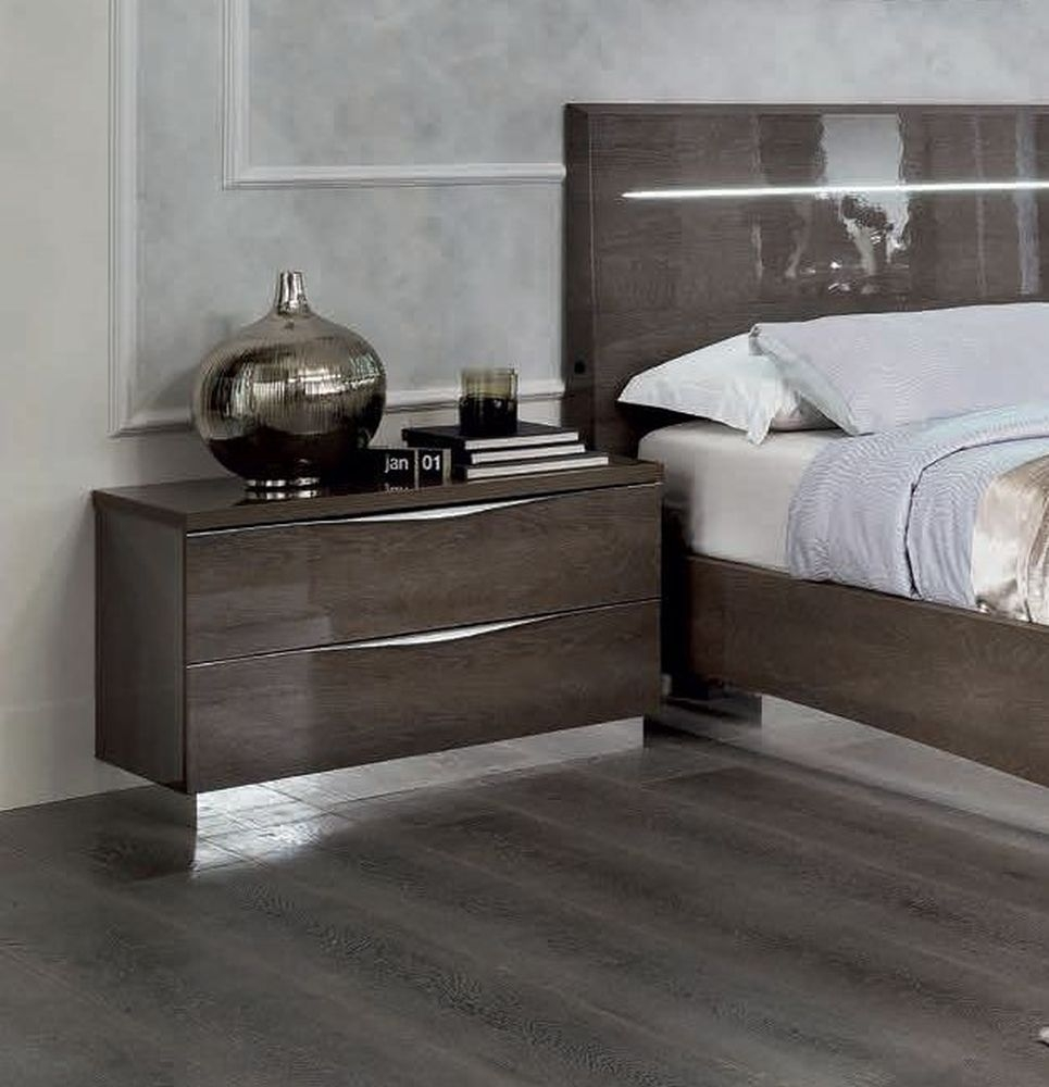 Camel Platinum Night Italian Bedside Cabinet