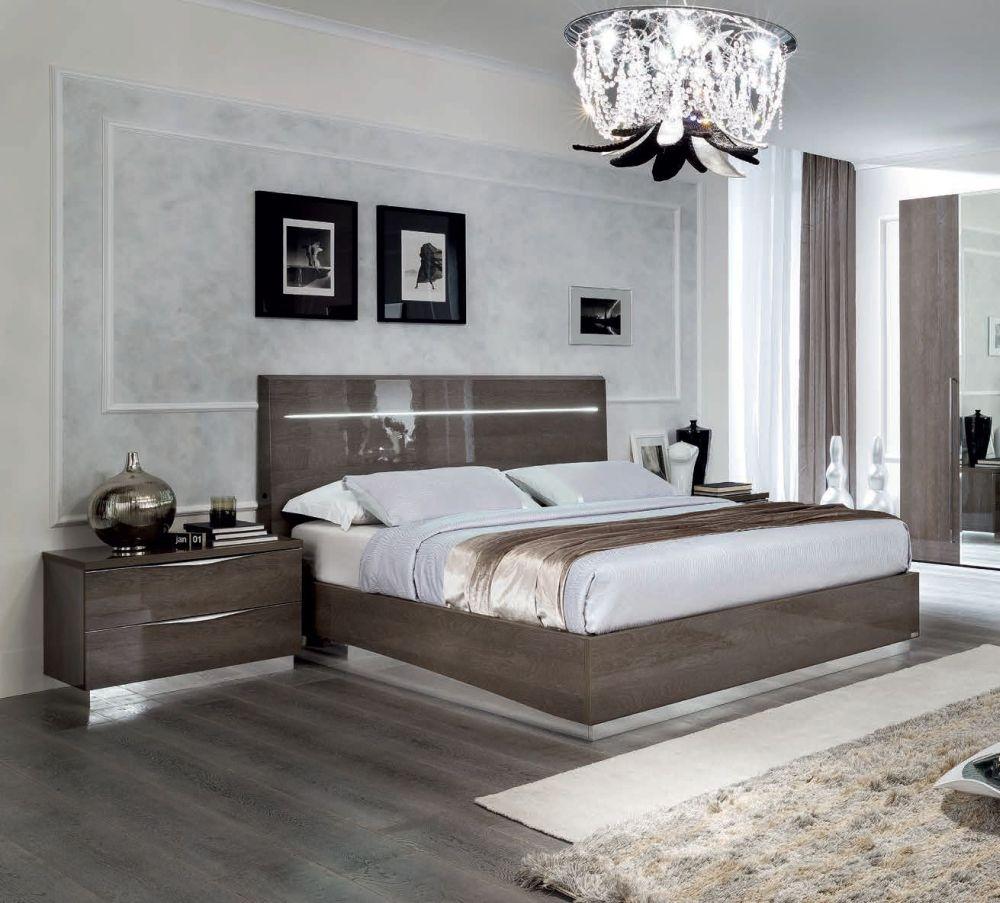 Camel Platinum Night Legno Italian Bed