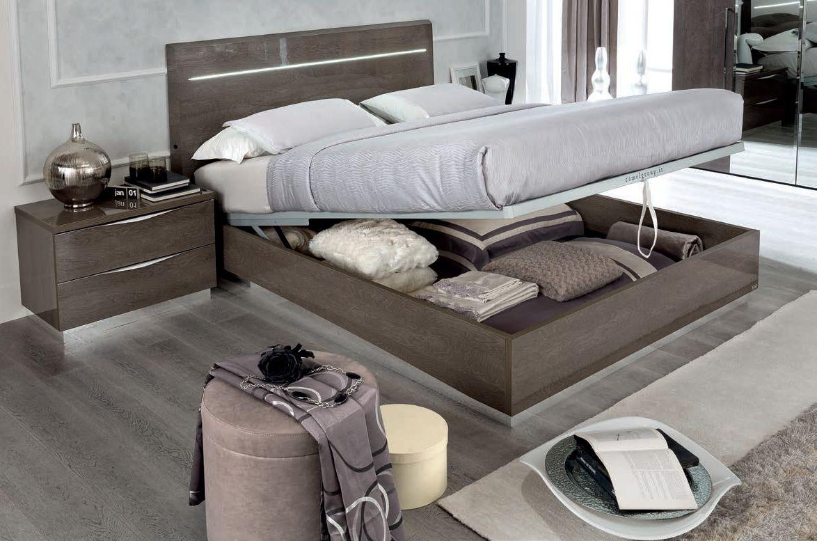 Buy camel letto legno platinum night italian luna storage bed