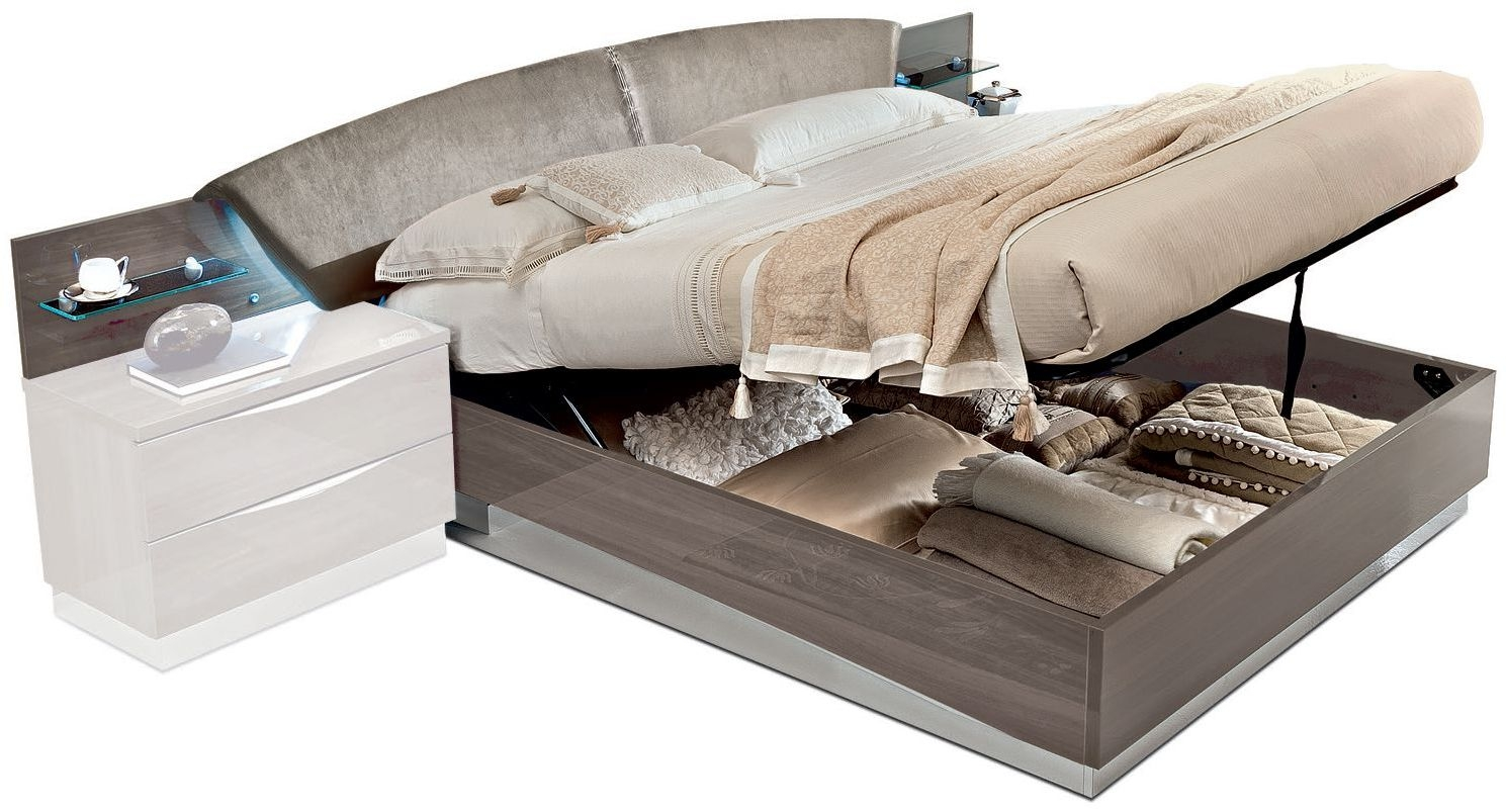 Camel Letto Platinum Night Italian Luna Storage Bed