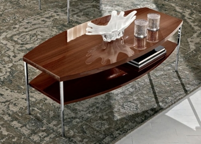 Camel Roma Day Walnut Italian Coffee Table