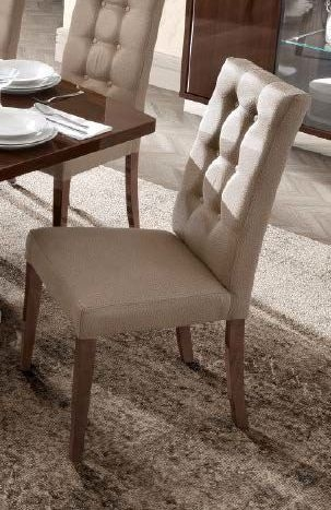 Camel Roma Day Dama Walnut Eco Leather Vermont Italian Dining Chair