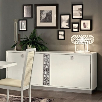 Camel Roma Day White Glamour Italian Large Buffet Sideboard