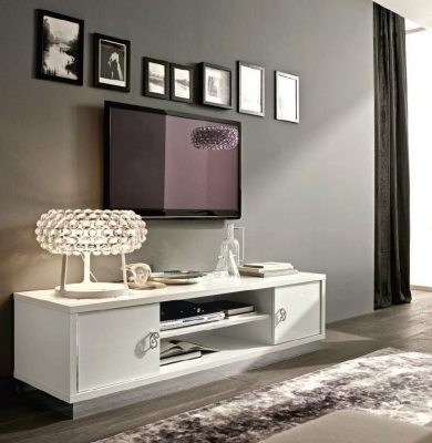 Camel Roma Day White Italian TV Cabinet