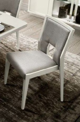 Camel Roma Day Ambra White Eco Leather Vermont Italian Dining Chair